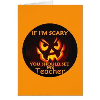 Tarjeta de PROFESOR de Halloween