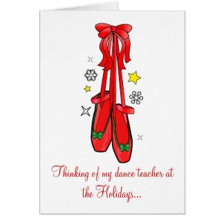 Tarjeta de profesor de la danza de los zapatos de