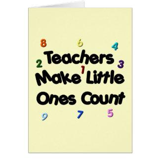 Tarjeta de profesor primario