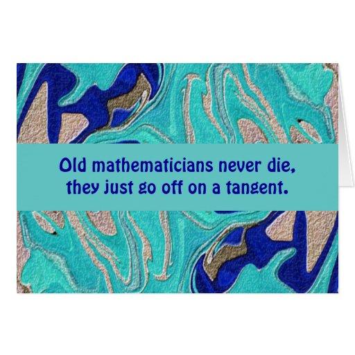 tarjeta de profesores de matemáticas