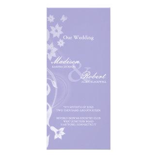 Tarjeta de programa del boda de la rama de la lava lona