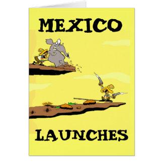 Tarjeta de programa espacial mexicana