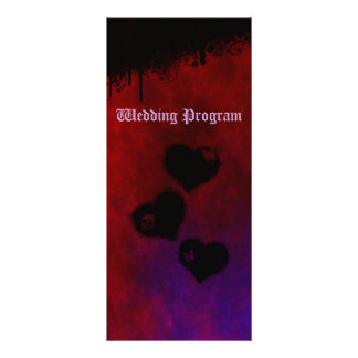 Tarjeta de programa gótica del boda del corazón plantillas de lonas