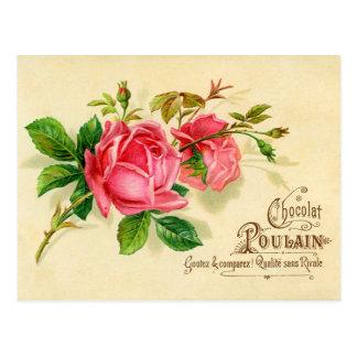 Tarjeta de publicidad francesa del vintage para el postal