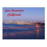 Tarjeta de puente Golden Gate de San Francisco Cal Tarjetas Postales