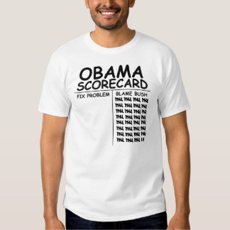 Tarjeta de puntuación de Obama Polera