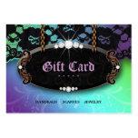 Tarjeta de regalo azul púrpura de la moda del cord plantillas de tarjetas personales