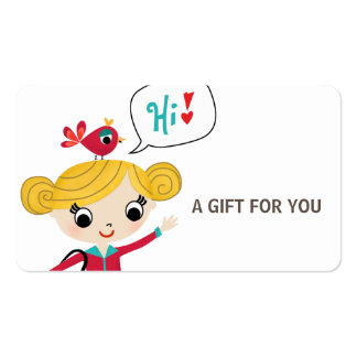 Tarjeta de regalo, certificado, D9-052115 Tarjetas De Visita