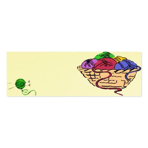 Tarjeta de regalo de los calceteros 2 tarjetas de visita mini