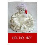 Tarjeta de regalo de vacaciones de risa de Buda