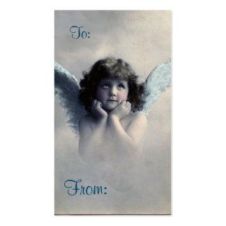 Tarjeta de regalo del ángel del navidad del tarjetas de visita