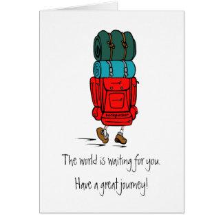 Tarjeta de regalo del Backpacker