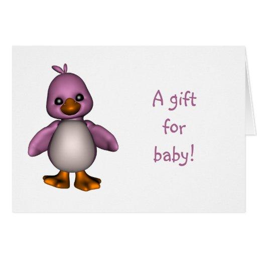 Tarjeta de regalo del bebé