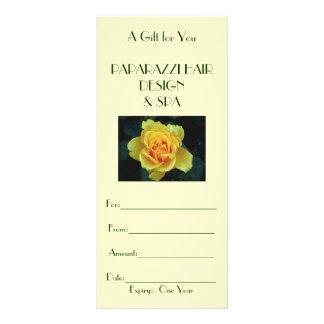 Tarjeta de regalo del negocio/certificado tarjeta publicitaria personalizada