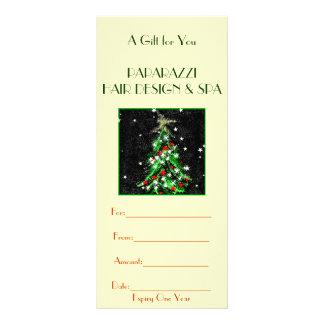 Tarjeta de regalo del negocio/certificado tarjeta publicitaria