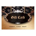 Tarjeta de regalo del oro de la moda del cordón de tarjeta personal