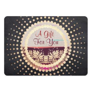 Tarjeta de regalo enmarcada oro rústico del tarjetas de visita grandes