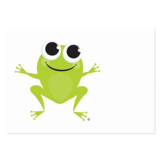 Tarjeta de regalo feliz de la rana tarjetas de visita grandes