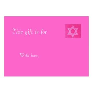 Tarjeta de regalo judía rosada plantilla de tarjeta personal