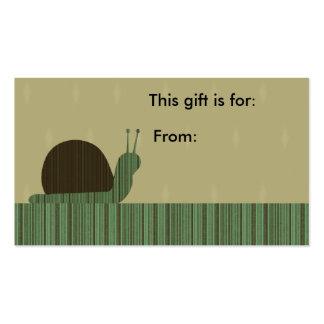 Tarjeta de regalo linda astuta del caracol plantilla de tarjeta personal