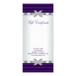 Tarjeta de regalo púrpura del vale del negocio diseño de tarjeta publicitaria