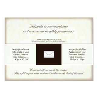 Tarjeta de relleno para los restaurantes No2 Invitación 12,7 X 17,8 Cm