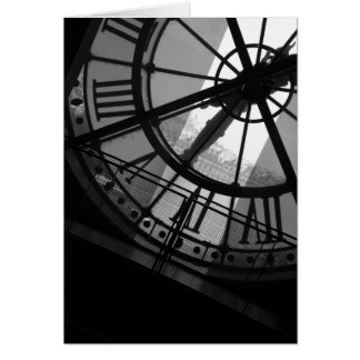 Tarjeta de reloj d Orsay de Musee