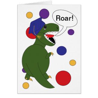 Tarjeta de Rex del Tyrannosaurus de la graduación