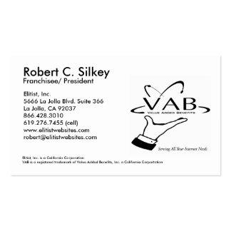 Tarjeta de Roberto Silkey Tarjetas De Visita
