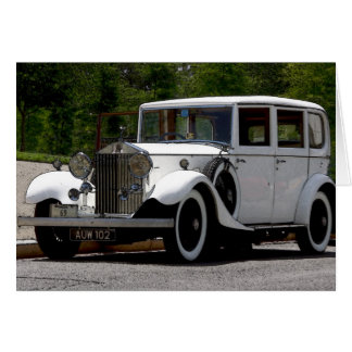 Tarjeta de Rolls Royce del vintage