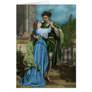 Tarjeta de Romeo y de Juliet