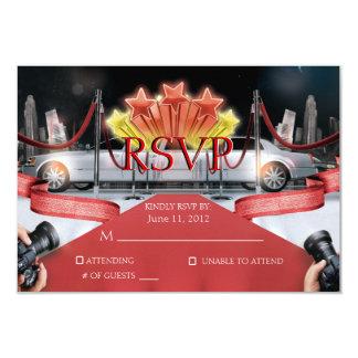 Tarjeta de RSVP de la alfombra roja Invitación 8,9 X 12,7 Cm