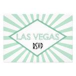 Tarjeta de RSVP de la carpa de Las Vegas Invitacion Personal