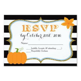 Tarjeta de RSVP de la invitación de la fiesta de