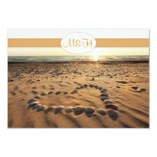 tarjeta de RSVP de la invitación del boda de playa