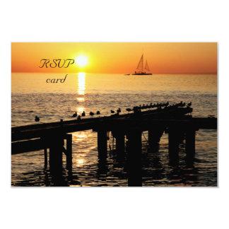 """tarjeta de RSVP de la puesta del sol del océano Invitación 3.5"""" X 5"""""""