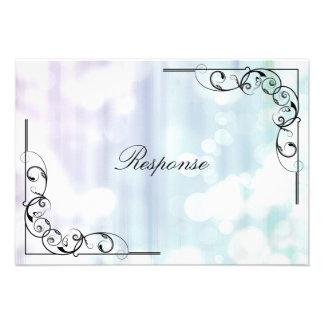 Tarjeta de RSVP de la respuesta del boda - remolin Invitación