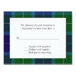 Tarjeta de RSVP de la tela escocesa de Wallace Invitación 10,8 X 13,9 Cm