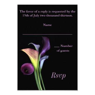 Tarjeta de RSVP de las calas Invitación 8,9 X 12,7 Cm