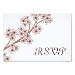 Tarjeta de RSVP de las flores de cerezo Comunicados Personales