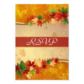 """Tarjeta de RSVP de las hojas de arce que cae Invitación 3.5"""" X 5"""""""