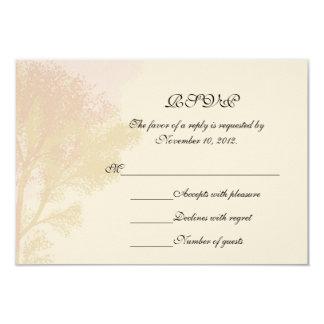 Tarjeta de RSVP de los árboles del otoño Invitación 8,9 X 12,7 Cm