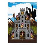 Tarjeta de RSVP de los caballeros y del castillo Invitación 8,9 X 12,7 Cm