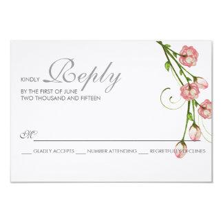 Tarjeta de RSVP de los rosas del jardín Invitación 8,9 X 12,7 Cm