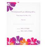 Tarjeta de RSVP del arco iris del hibisco Comunicado Personalizado