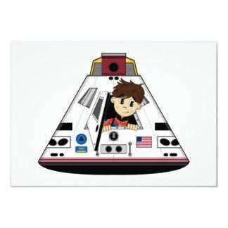 """Tarjeta de RSVP del astronauta y de la cápsula Invitación 3.5"""" X 5"""""""