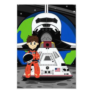 """Tarjeta de RSVP del astronauta y del transbordador Invitación 3.5"""" X 5"""""""