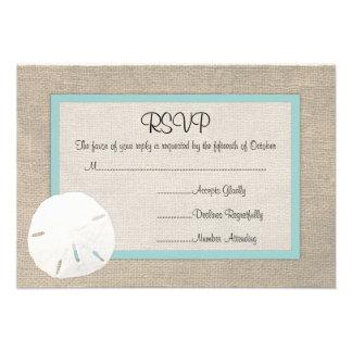 Tarjeta de RSVP del boda de playa del dólar de are Invitación Personalizada