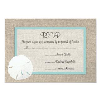 Tarjeta de RSVP del boda de playa del dólar de Invitación Personalizada