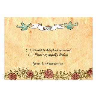 Tarjeta de RSVP del boda del rock-and-roll (rosas) Tarjetas De Visita Grandes